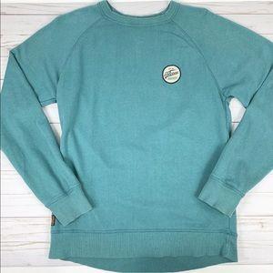 Volcom Crewneck Sweatshirt Blue Teal Long Sleeve